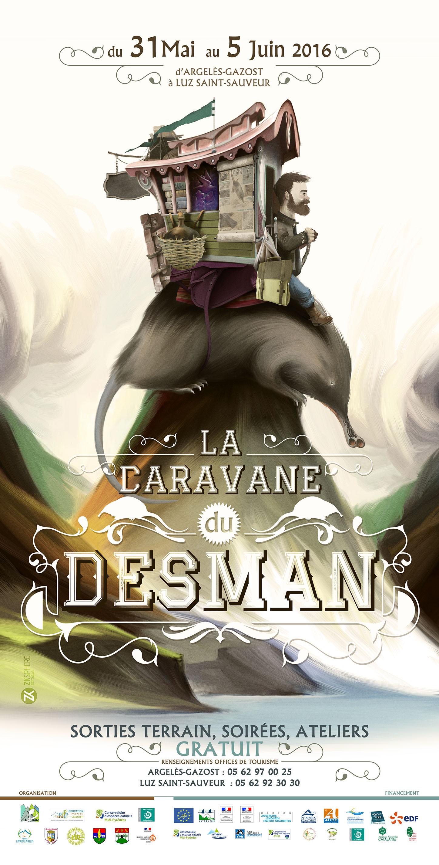 Affiche de la caravane Desman 2016