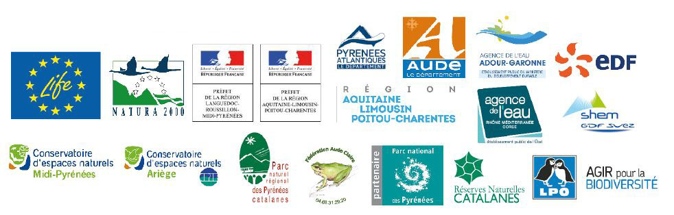 Logos des financeurs de la caravane Desman